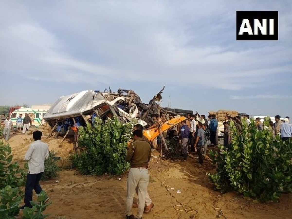 Rajasthan: 10 killed and about 22 others injured as bus, truck collide in Bikaner