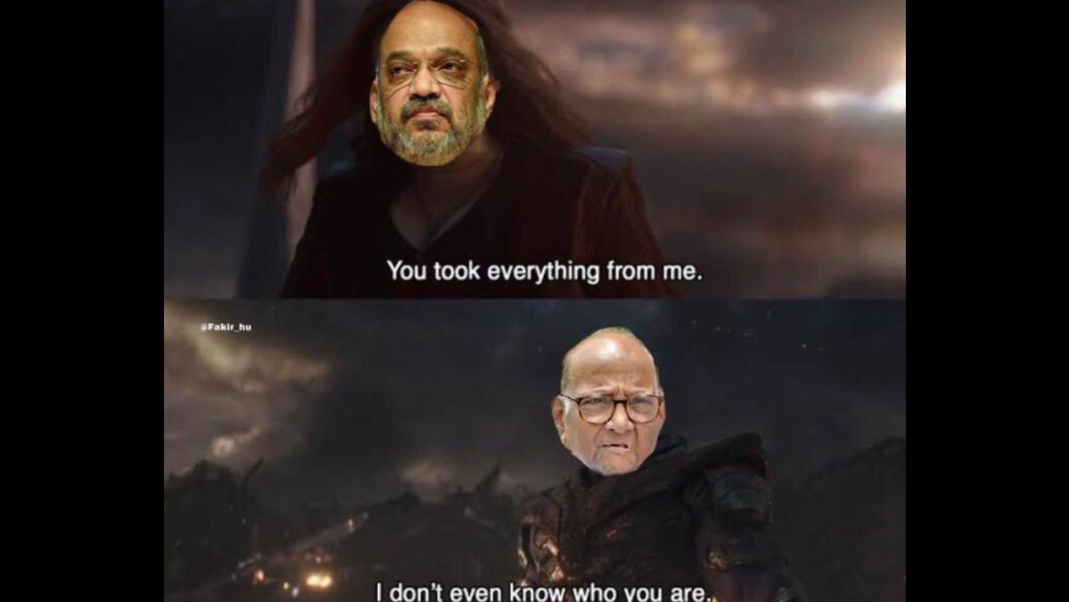 Amit Shah and Sharad Pawar