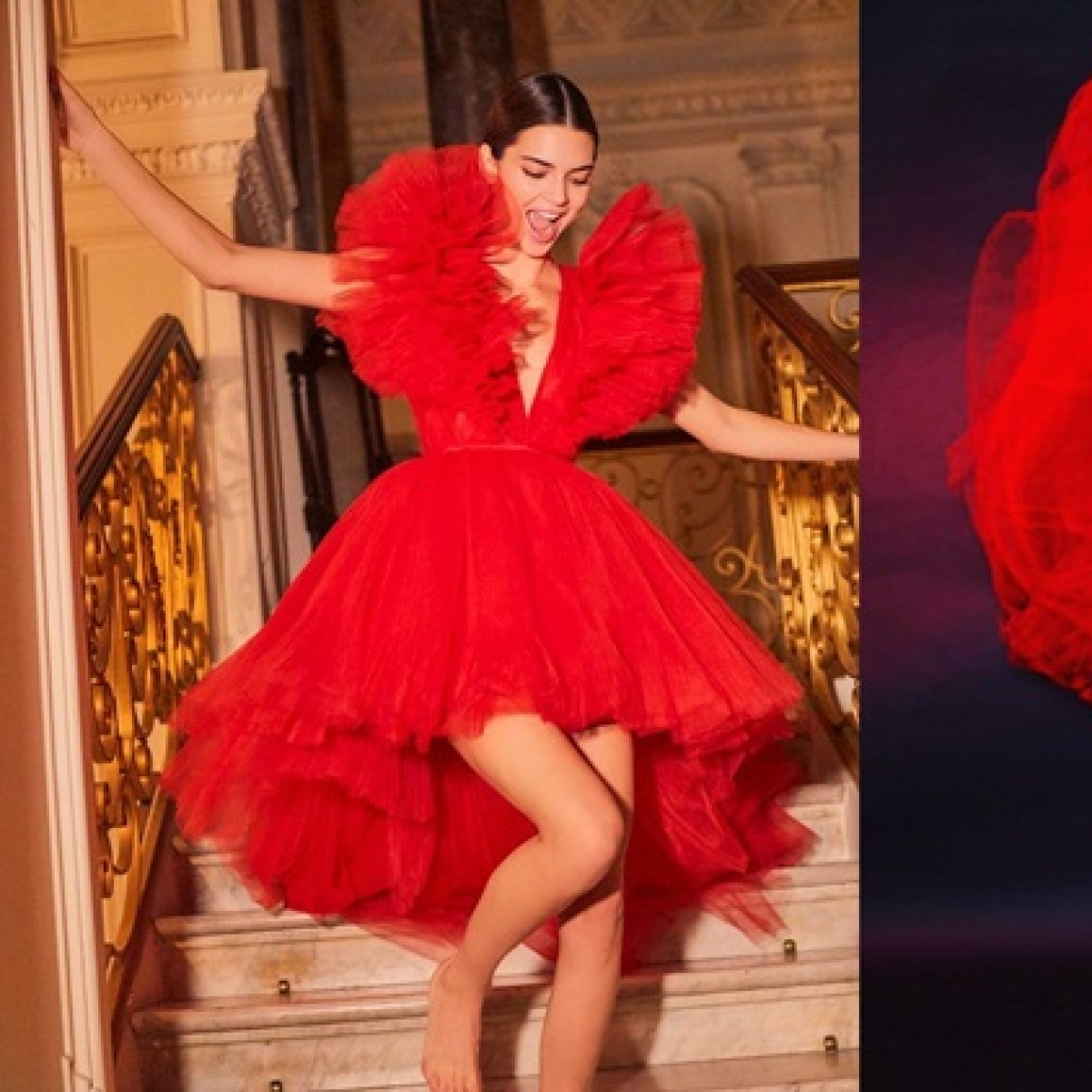 Who wore it better? Malaika Arora copies Kendall Jenner's red gown by Giambattista Valli