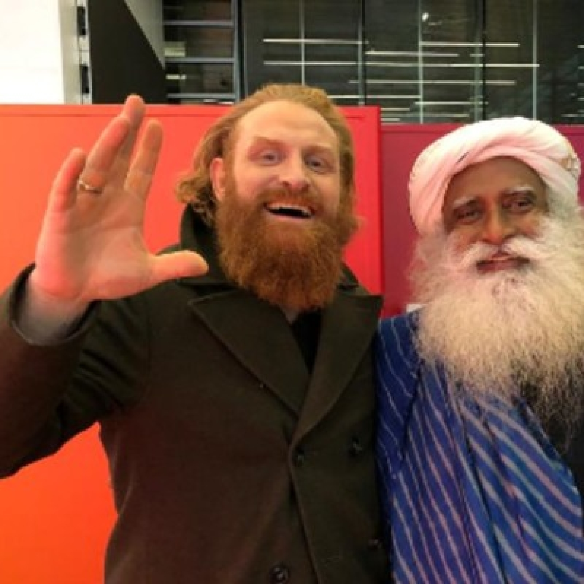 Sadhguru met Game of Thrones Tormund and Twitter can't keep calm