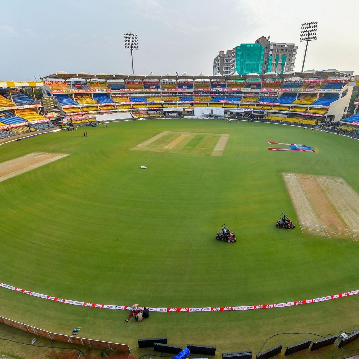 Indore: Holkar decked-up for Red Test
