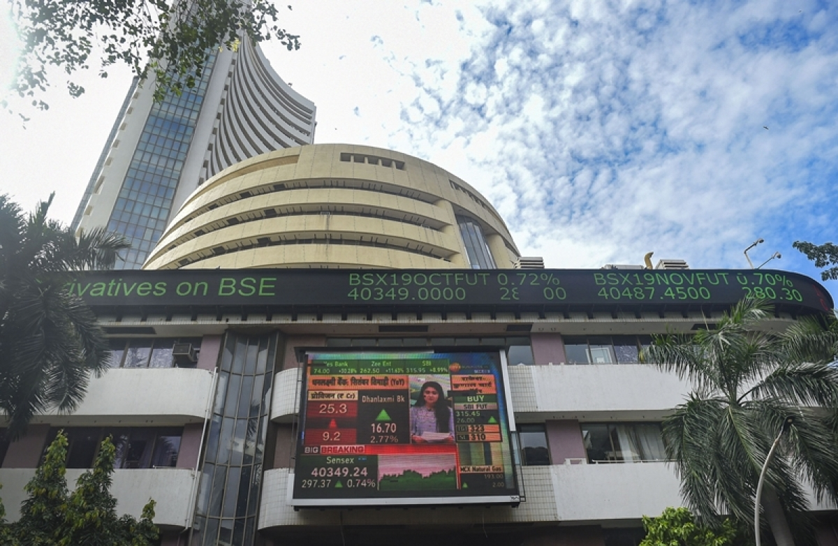 Sensex tumbles over 100 pts; Nifty tests 12,250