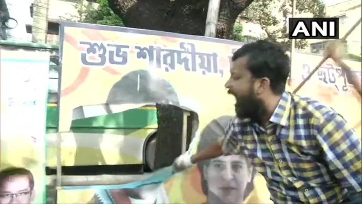 After SC verdict on Rafale, BJP workers deface Rahul Gandhi's posters in Kolkata