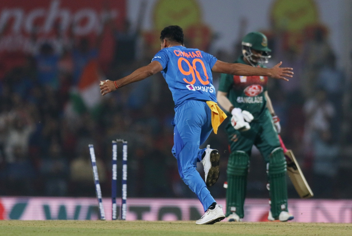 Deepak Chahar today became first Indian to pick up a hat-trick in T20Is