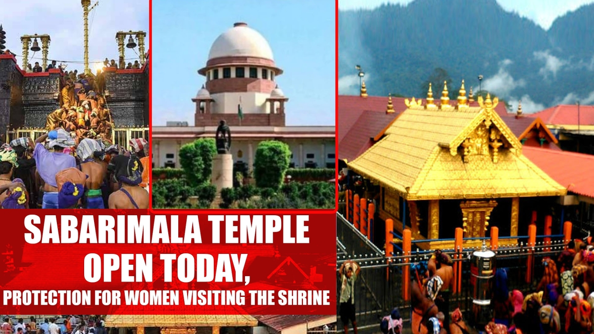 Sabarimala temple to open today, no protection for women visiting the shrine