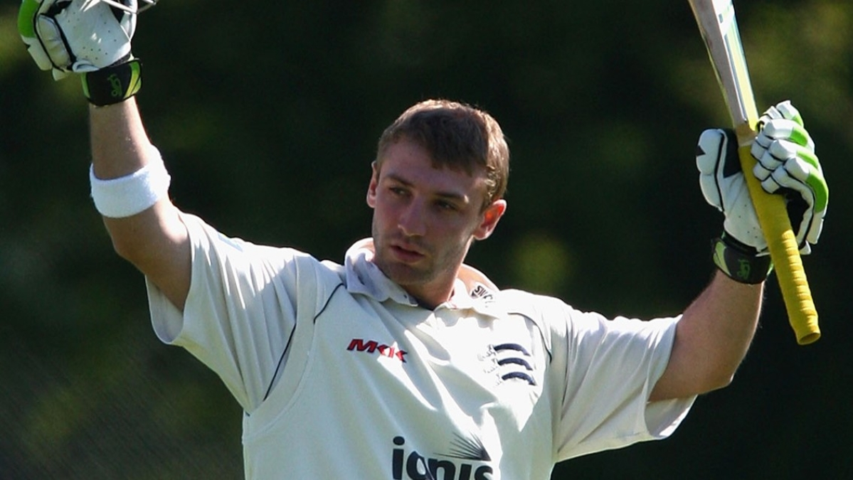 Phil Hughes playing for Middlesex
