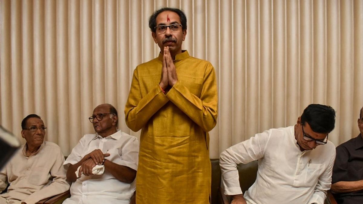 #ShivSenaCheatsBalasaheb trends on Twitter after Maha Vikas Aghadi names Uddhav Thackeray as Maharashtra CM
