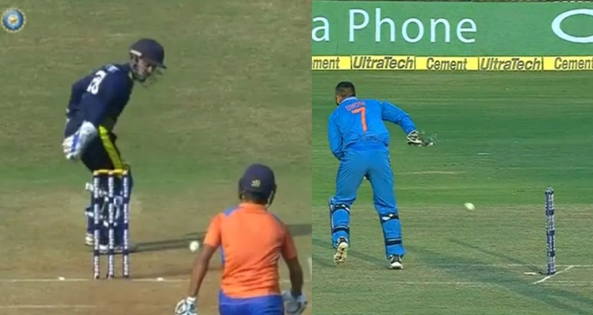 Not everyone can be Dhoni: Meghalaya keeper tries MSD's 'no-look' runout, fails spectacularly