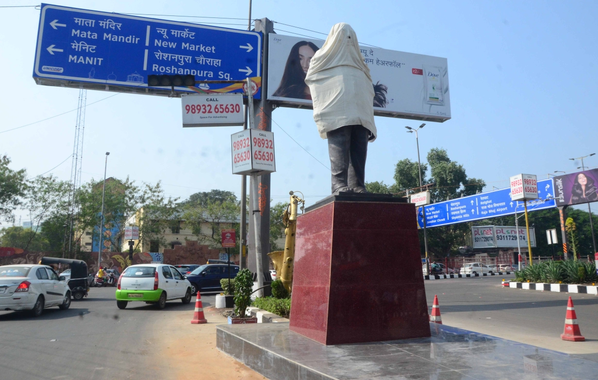 Bhopal: Controversy erupted over installation of Arjun Singh's statue