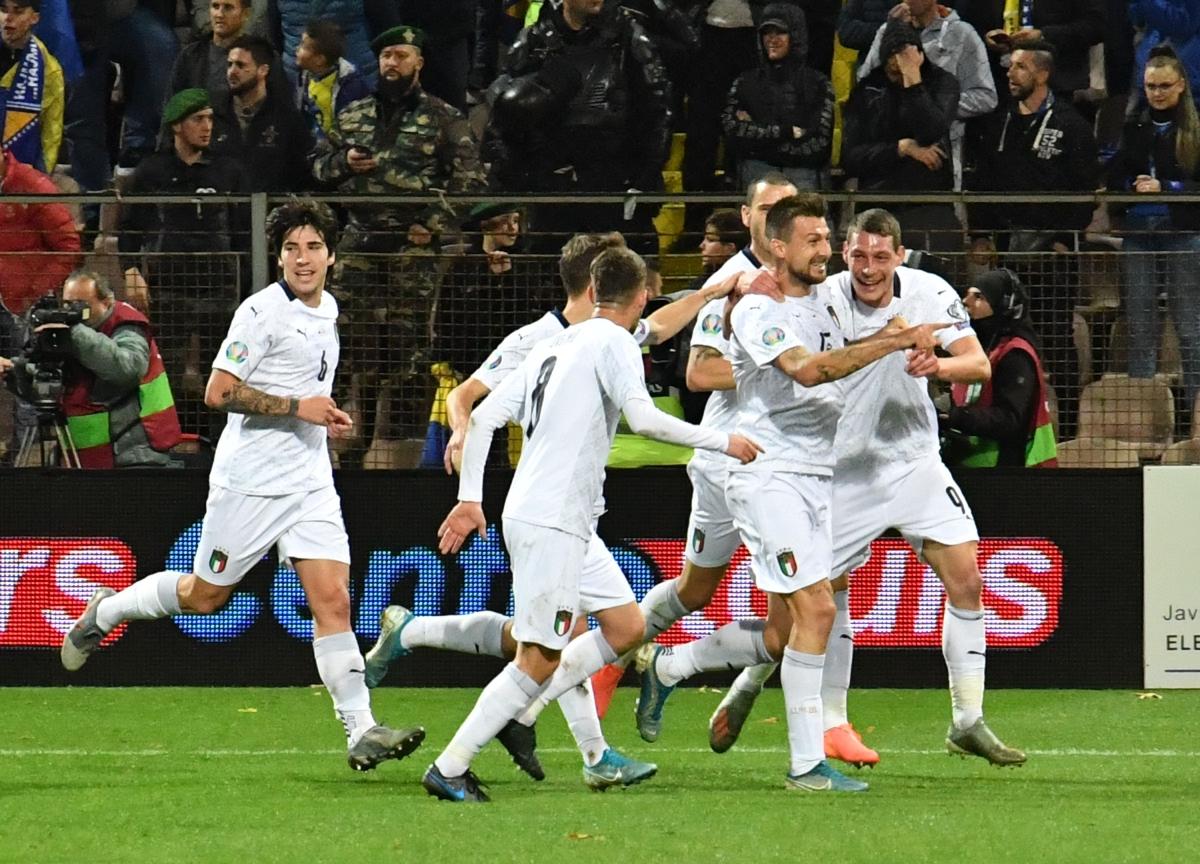 Euro 2020 qualifying: Rampant Italy fire nine