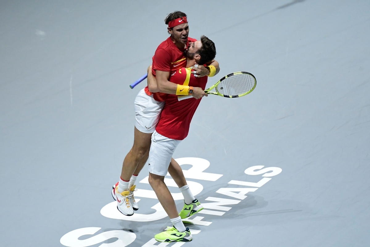 Nadal takes Spain to semi-finals in Davis Cup
