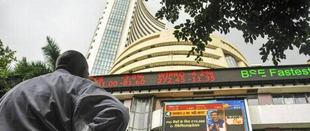 Sensex surges by 530 points to close at record peak, Nifty at 12,079