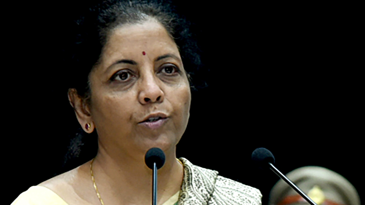 Union Minister for Finance and Corporate Affairs, Nirmala Sitharaman addressing at the Passing Out Parade Ceremony of 69th Batch of IRS (Customs & Central Excise), at National Academy of Customs, Indirect Taxes and Narcotics, in Faridabad. (File)
