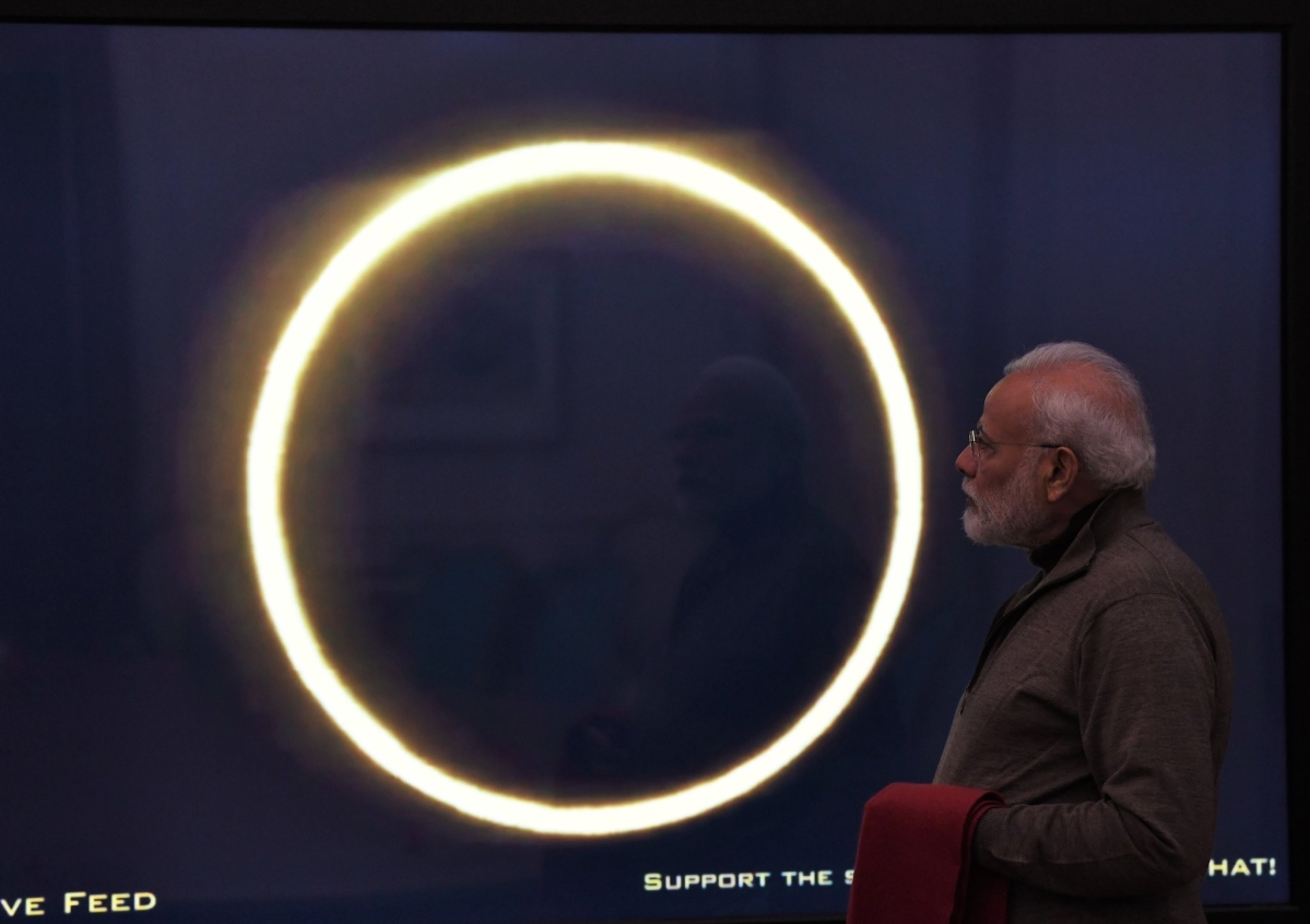 How PM Narendra Modi caught last Solar Eclipse of 2019
