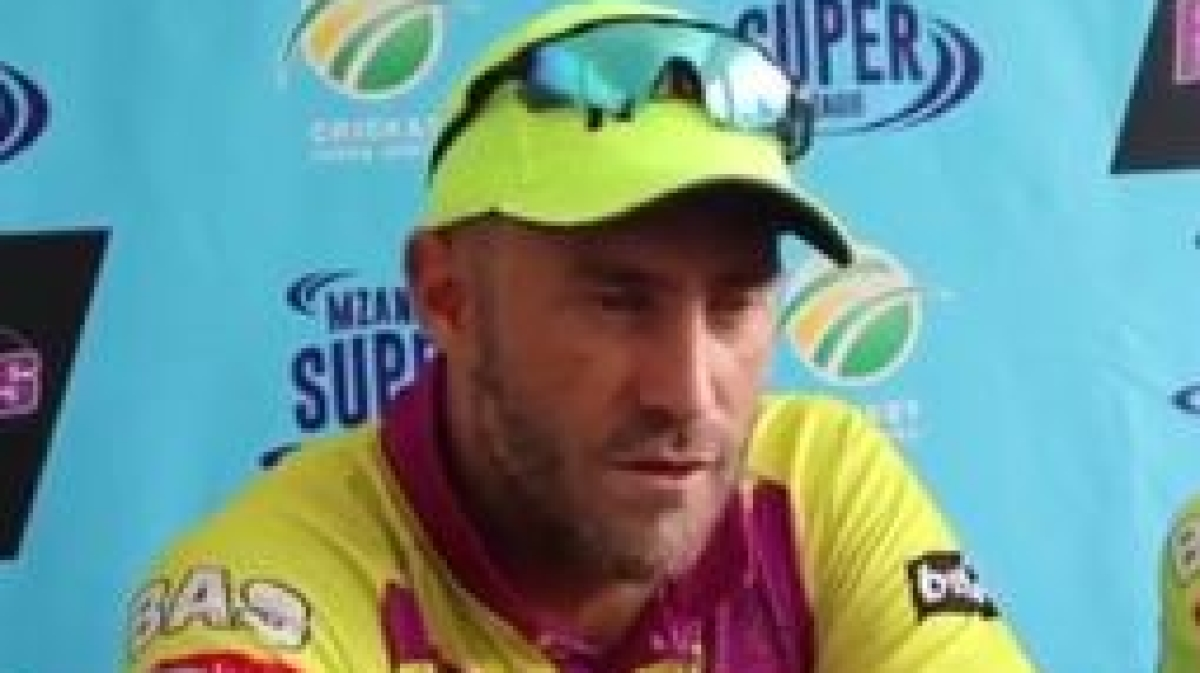'Hardus Viljoen not playing today because he's lying in bed with my sister': Faf Du Plessis