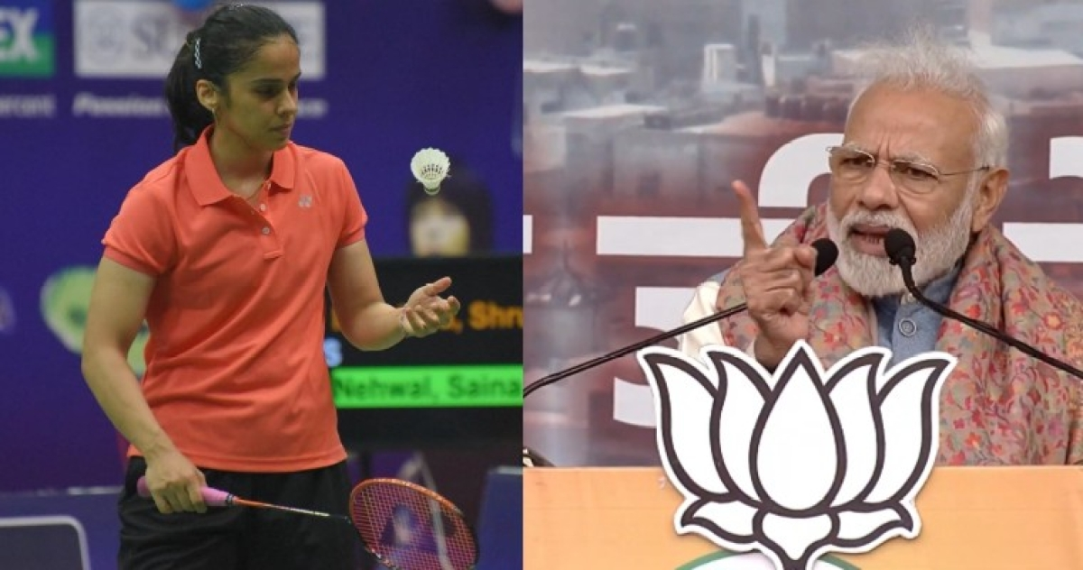 Saina Nehwal and a lot of Twitter handles are writing the exact same thing about Modi's Ramleela speech
