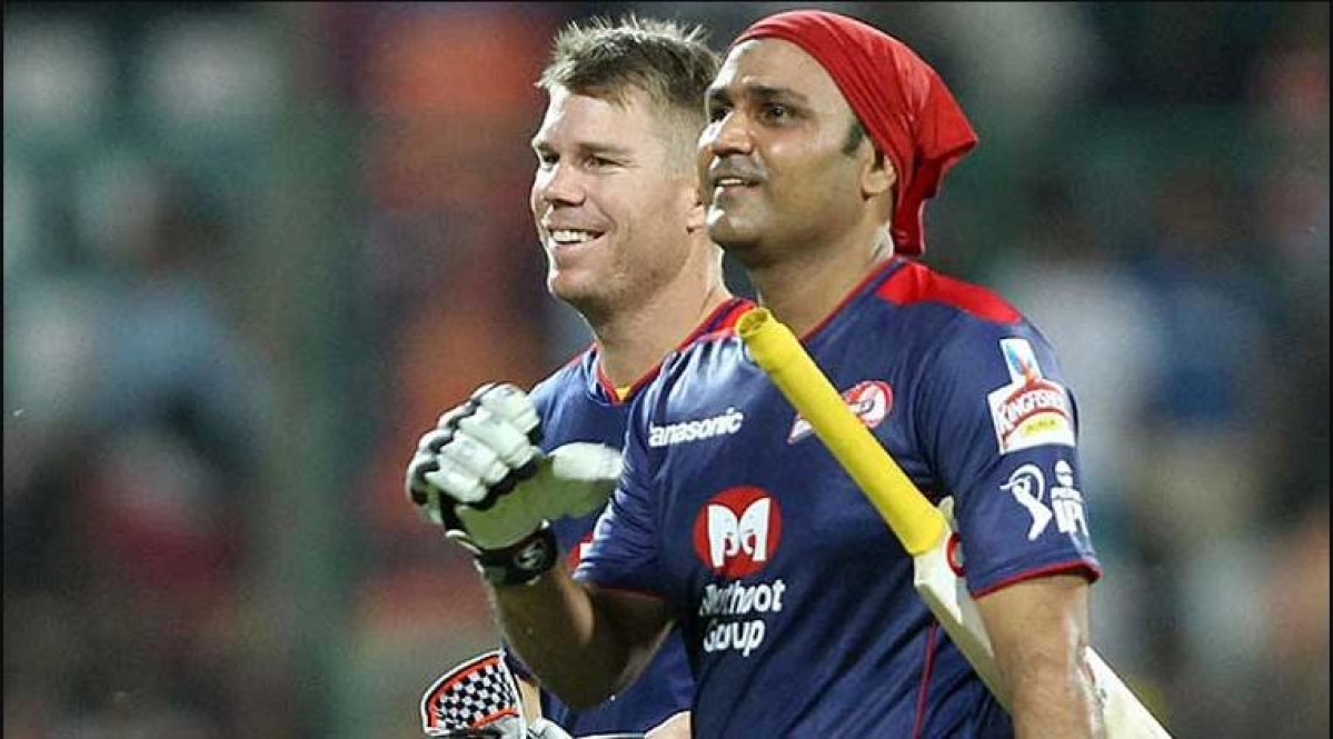 David Warner and Virender Sehwag's opening pair was the most destructive for DC.