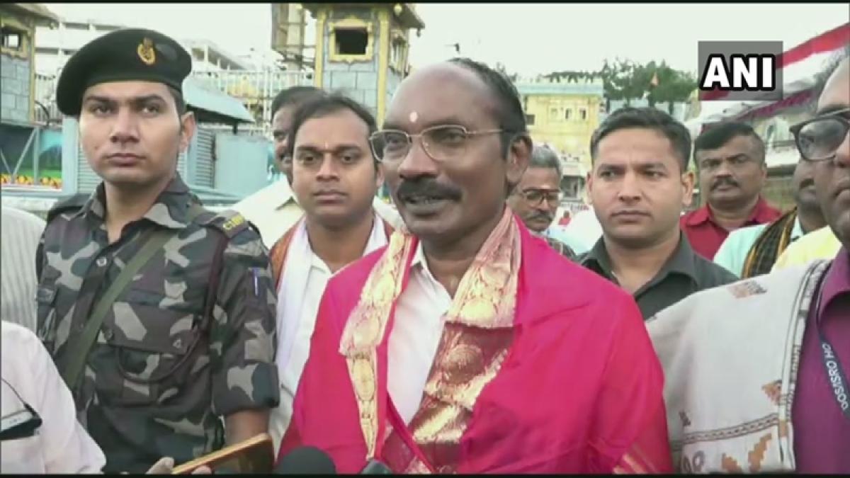 ISRO Chairman K Sivan offers prayers at Tirupati ahead of PSLV's 50th mission