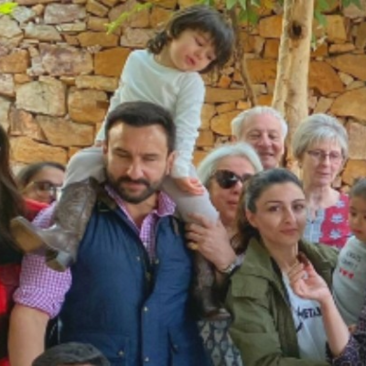 Eye of the Tiger: Taimur can't take his eyes off cake while posing for Pataudi family pic