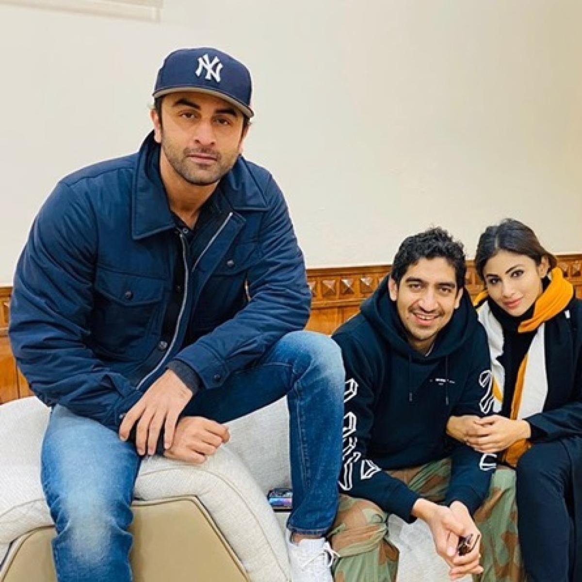 Mouni Roy shares 'warm' picture with 'Brahmastra' co-star Ranbir Kapoor, director Ayan Mukerji