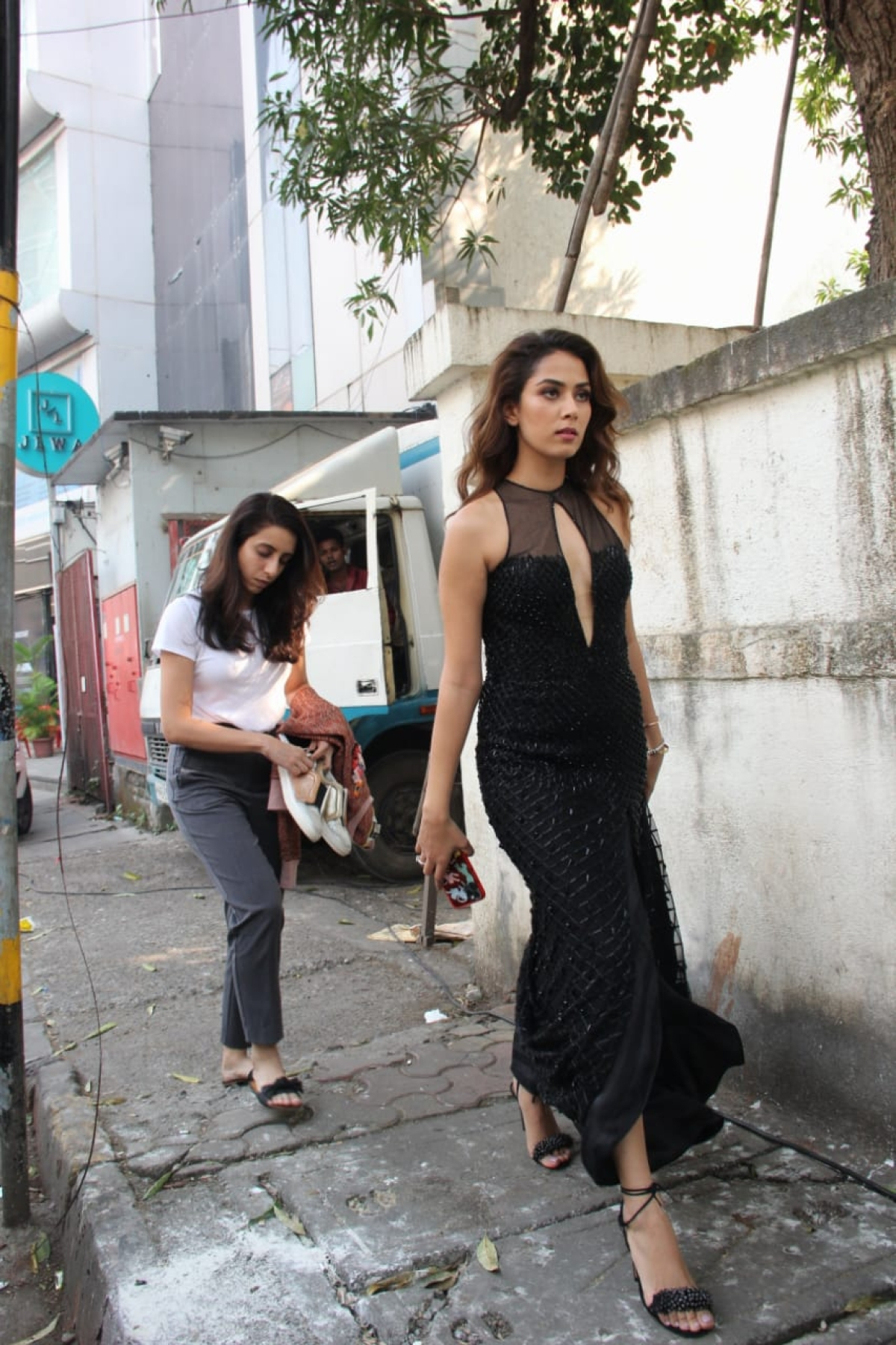 Mira Kapoor for an ad shoot in Mumbai