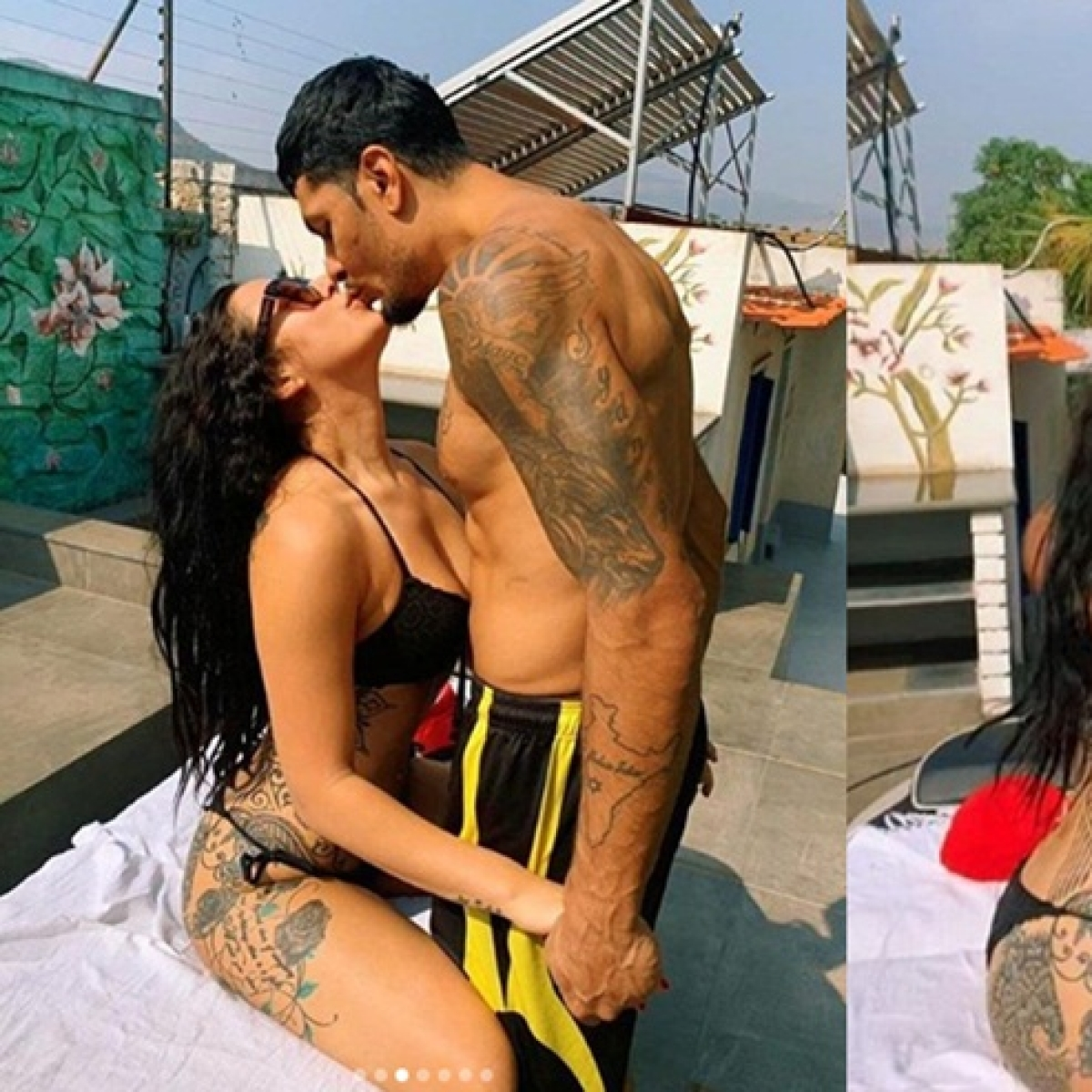 Krishna Shroff slips into a black bikini, shares a liplock with boyfriend Ebam Hyams