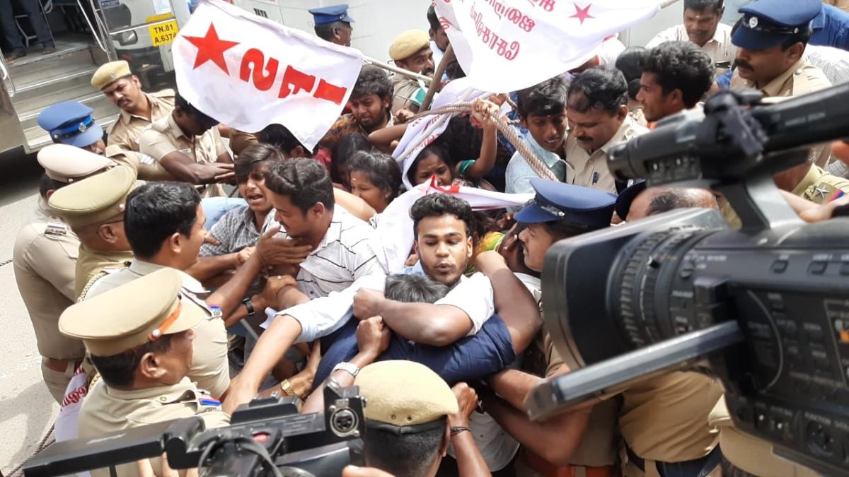 Protests break out in Tamil Nadu