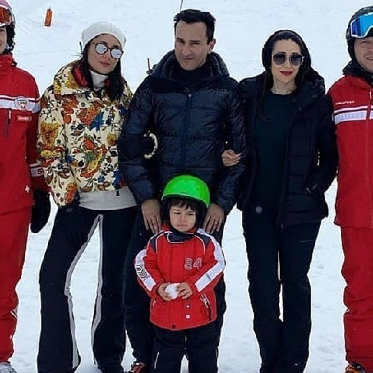 Taimur is in a 'mood' during Swiss vacay as Saif and Kareena struggle to make him pose for pics