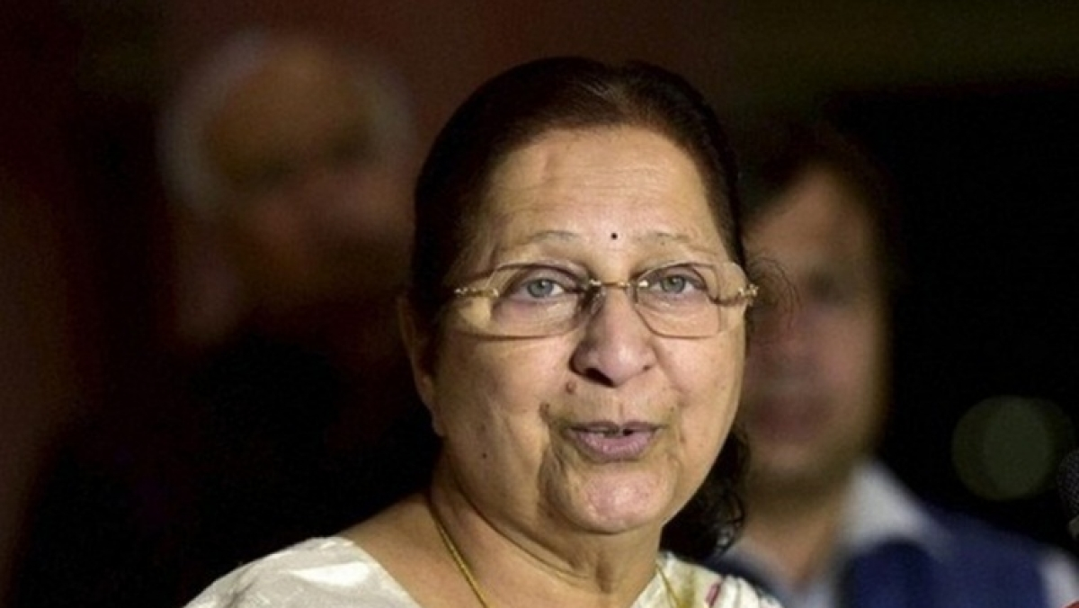 Couldn't raise issues of public interest during previous BJP govt, took help of Cong leaders: Sumitra Mahajan