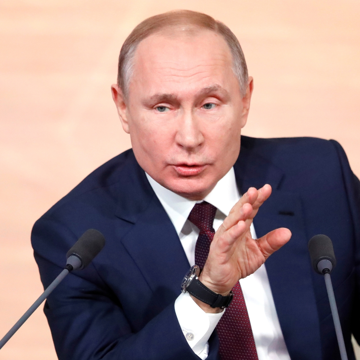 The case was all made up, says Vladimir Putin
