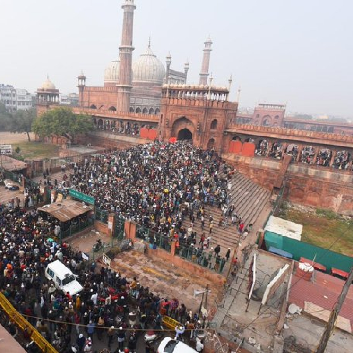 CAA: Protests at Jama Masjid peaceful