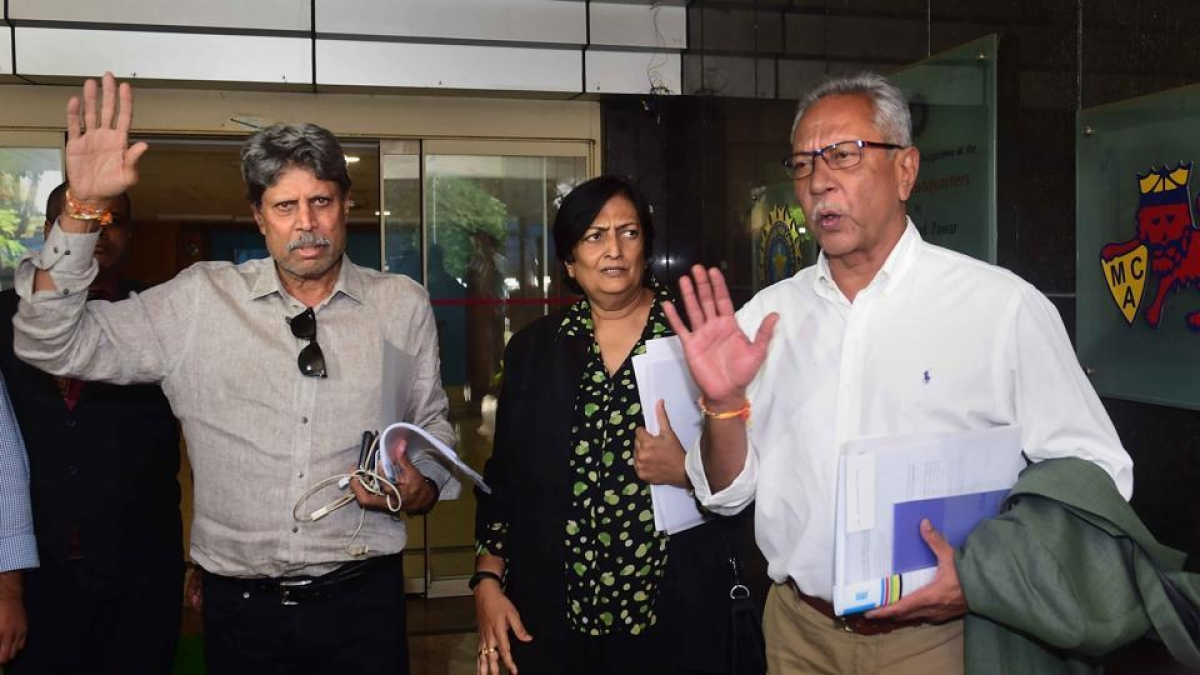 Shantha Rangaswamy (centre) and Anshuman Gaekwad cleared of conflict of interest