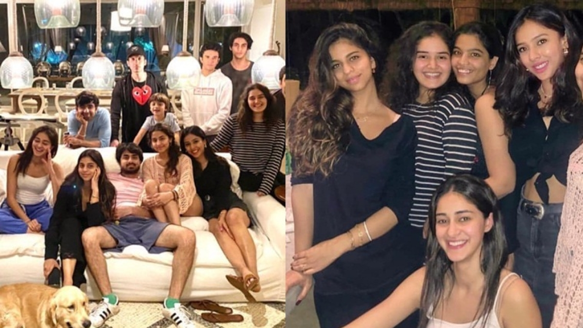 Suhana, AbRam and Aryan Khan celebrate holidays with cousins and close friends in Alibaug