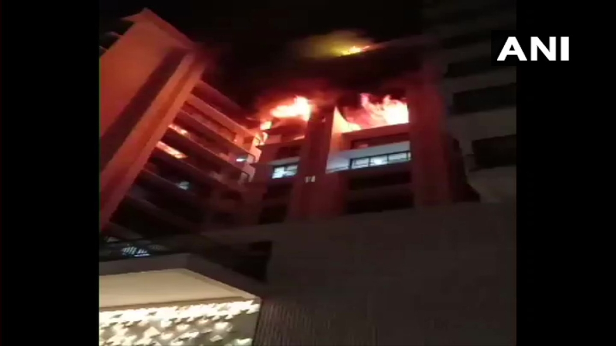 Watch: Massive fire breaks out at a building in Vile Parle, Mumbai