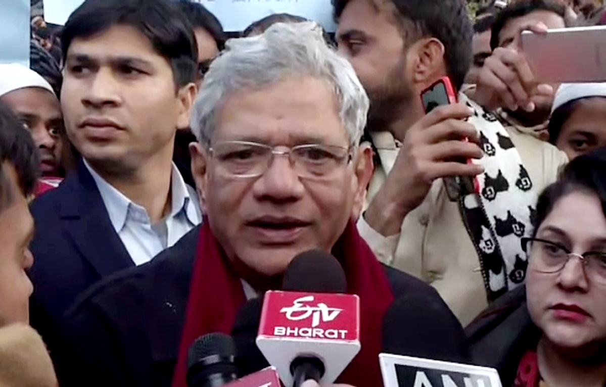 PM's speech full of untruths: Sitaram Yechury hits out at Modi