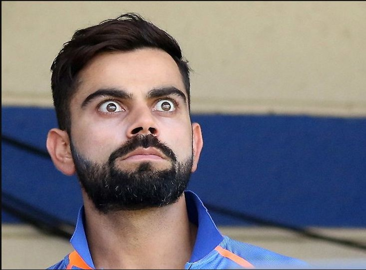 Virat Kohli reacts to Pietersen's request after the commentator asks him to pick a kid in his squad
