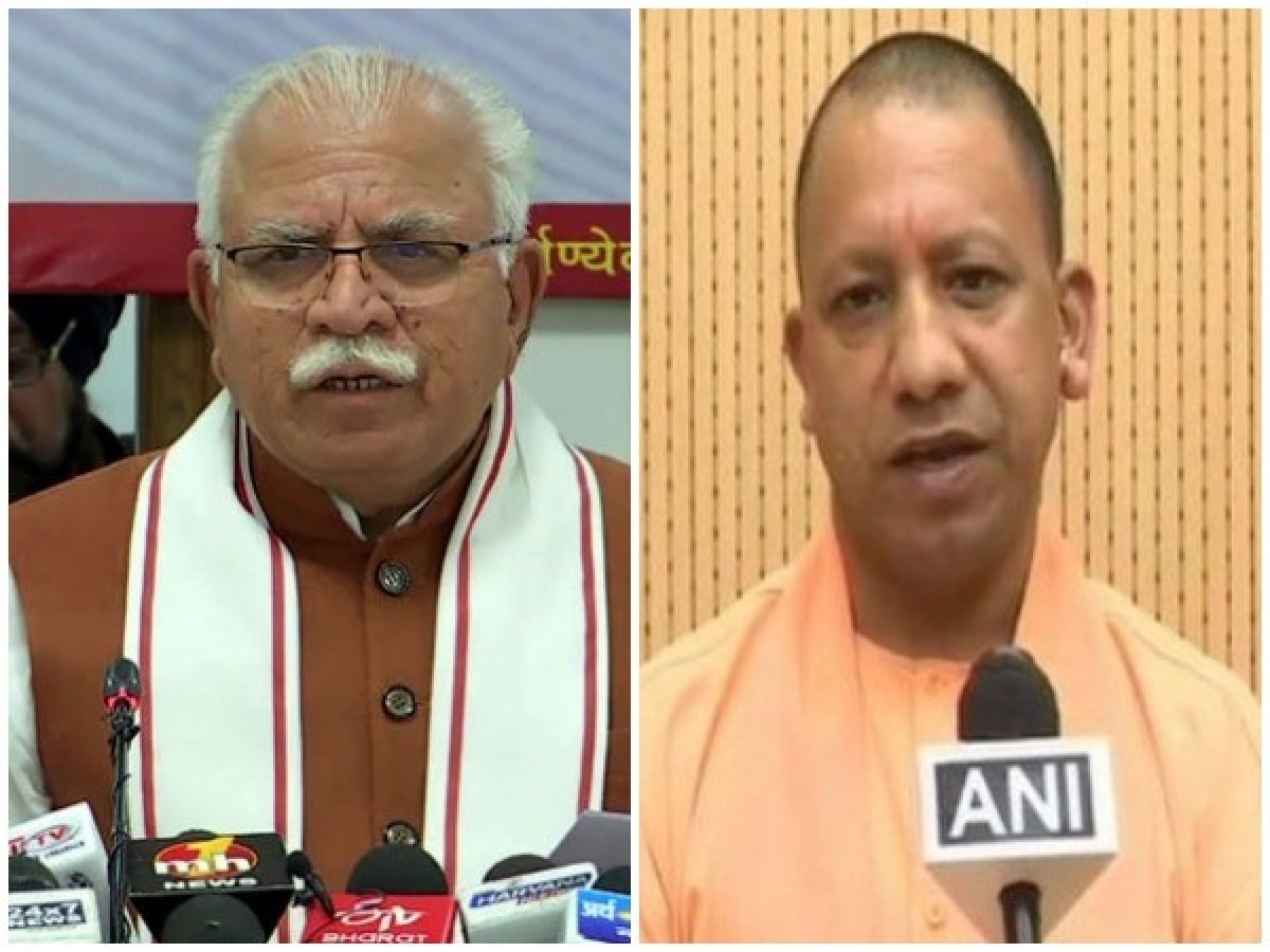 Khattar, Adityanath discuss wide range of bilateral issues; UP agrees to construct 3 bridges on River Yamuna