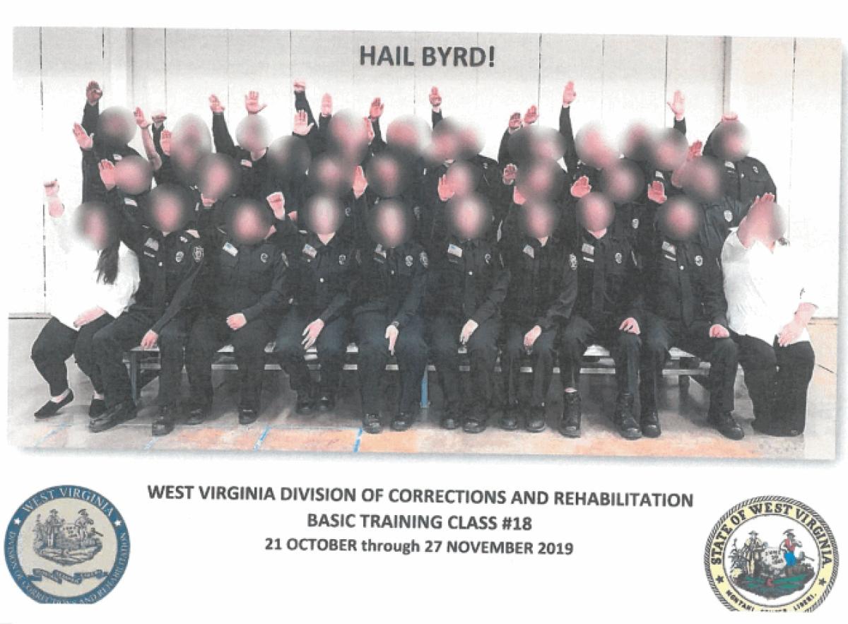 Nazi salute: 34 prison guard trainees fired