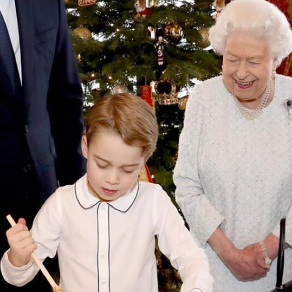 Prince George turns chef, makes Christmas pudding with the royal family