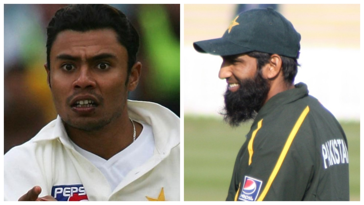 Danish Kaneria (left) Mohammad Yousaf (right)