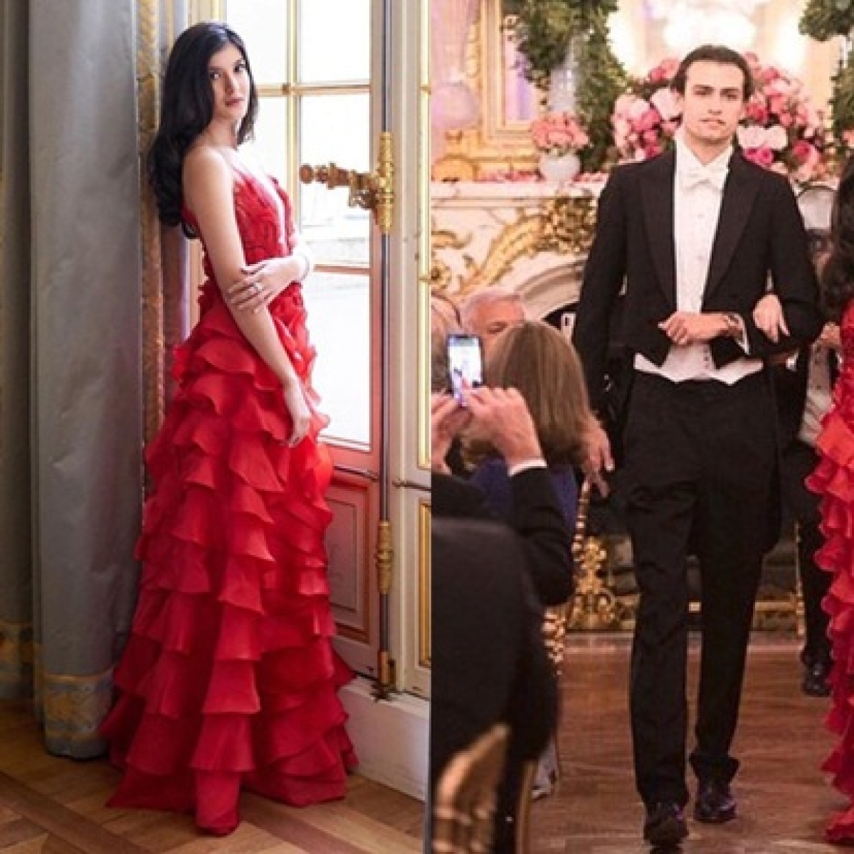 Shanaya Kapoor looks ravishing in red at Le Bal des Débutantes