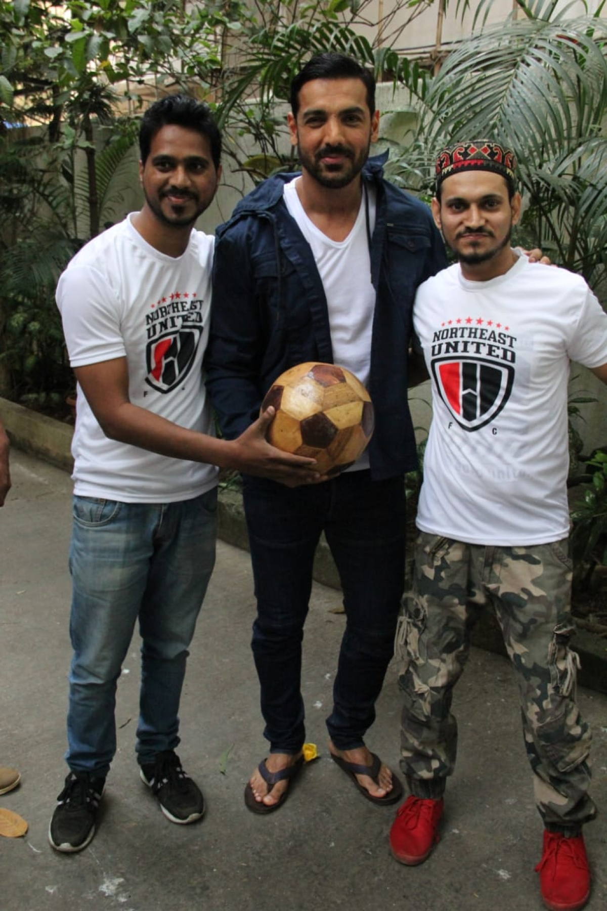John Abraham celebrating his birthday with fans