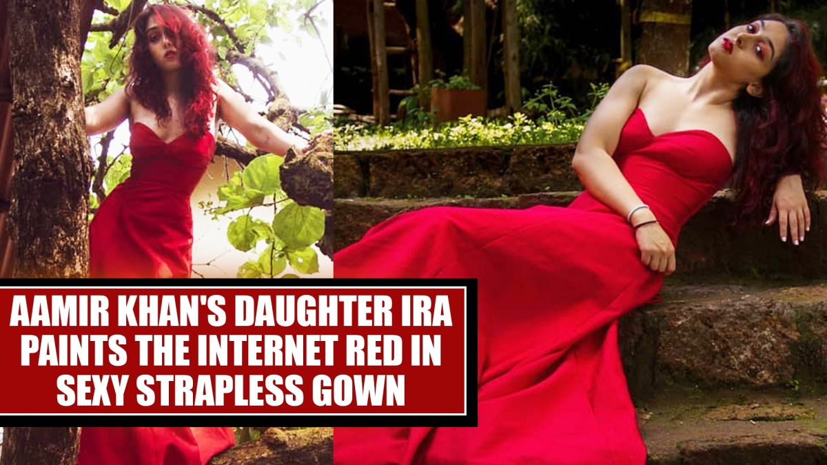 Aamir Khan's daughter Ira paints the internet red in sexy strapless gown