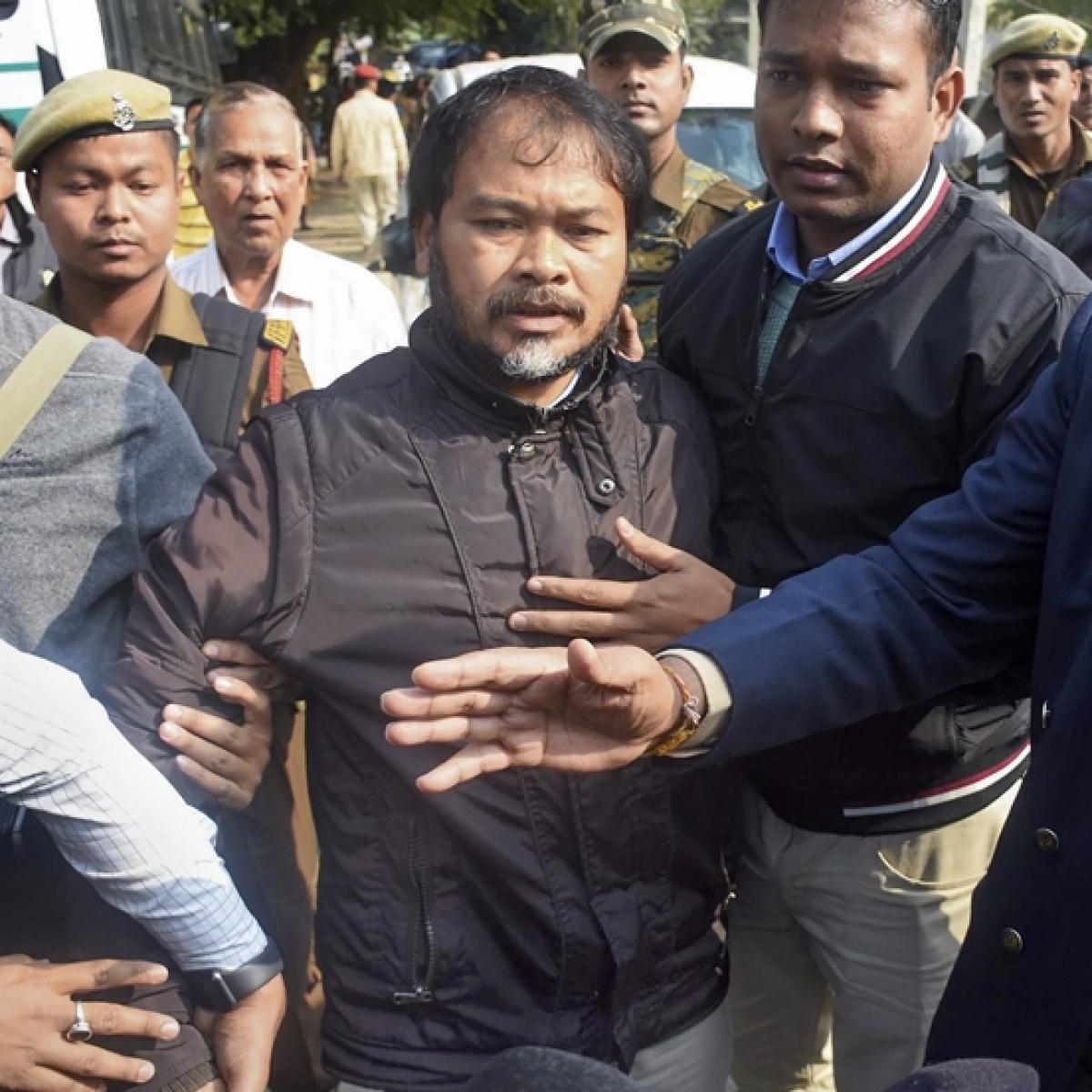 Akhil Gogoi sent to 14-day custody, his house raided