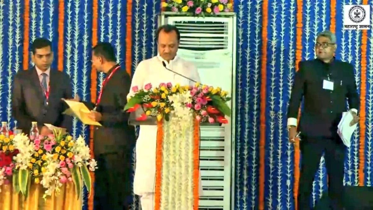 Take 2: Ajit Pawar swears in as Deputy CM, this time in broad daylight