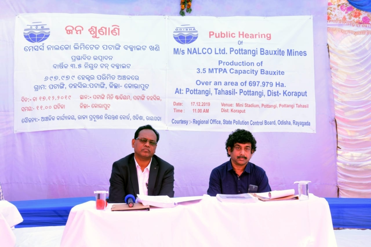 Public hearing for Environment clearance of NALCO's Pottangi Mines held successfully