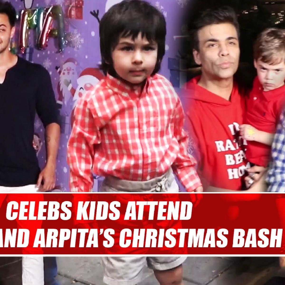 Salman khan, Ritesh, Karan Johar and many others attend Aayush and Arpita's Christmas bash