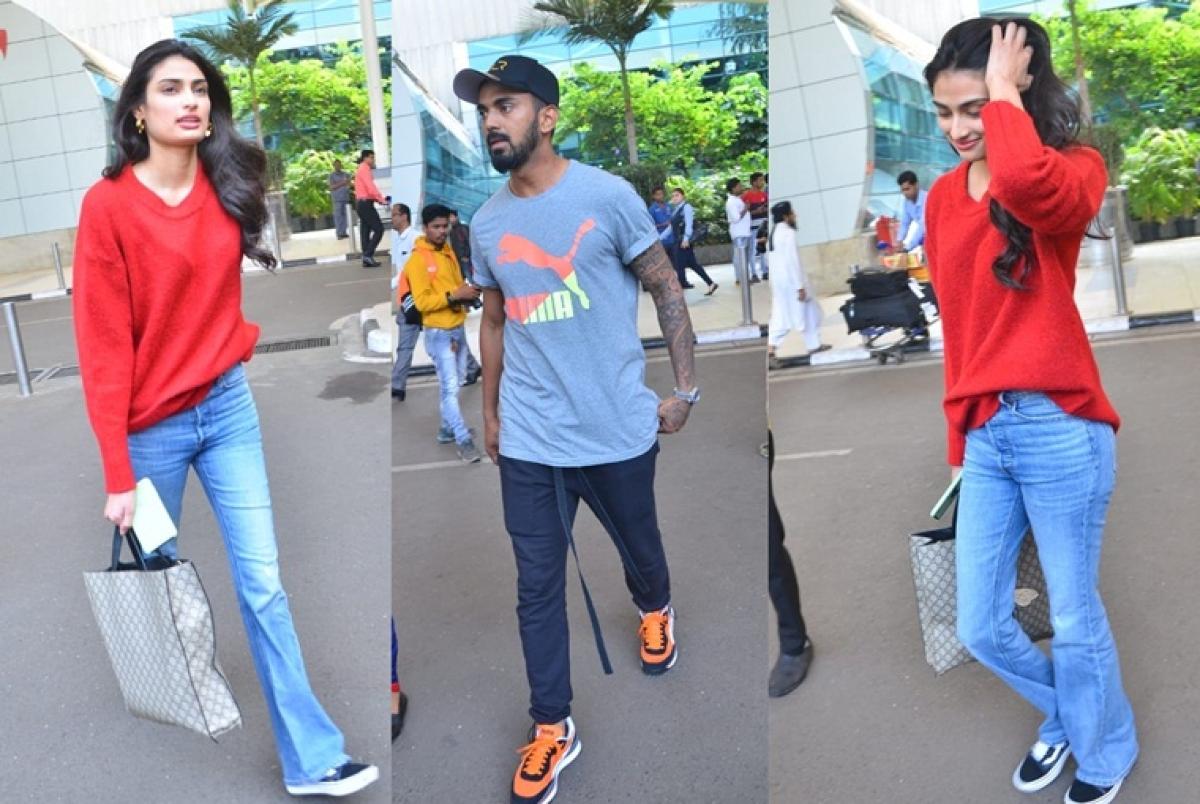 Not dating, hard to believe: KL Rahul and rumoured girlfriend Athiya Shetty spotted at Mumbai airport, see pics