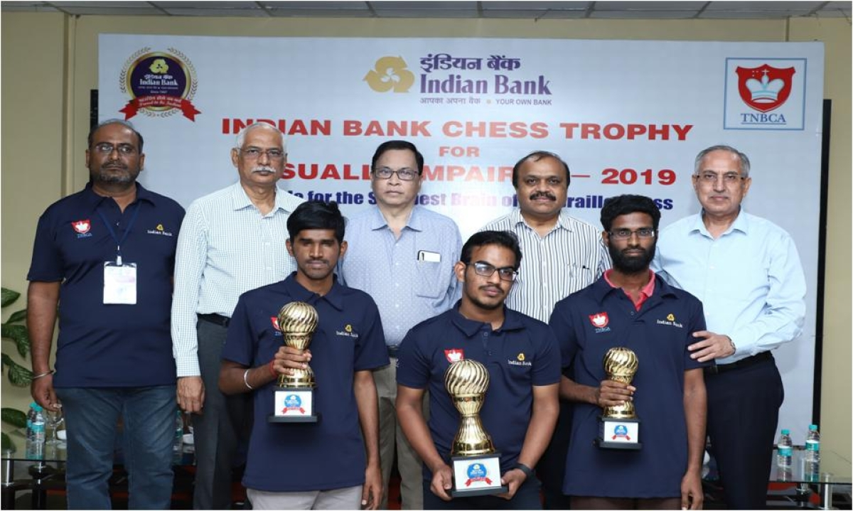 Marimuthu K wins Indian Bank Chess Trophy for visually impaired