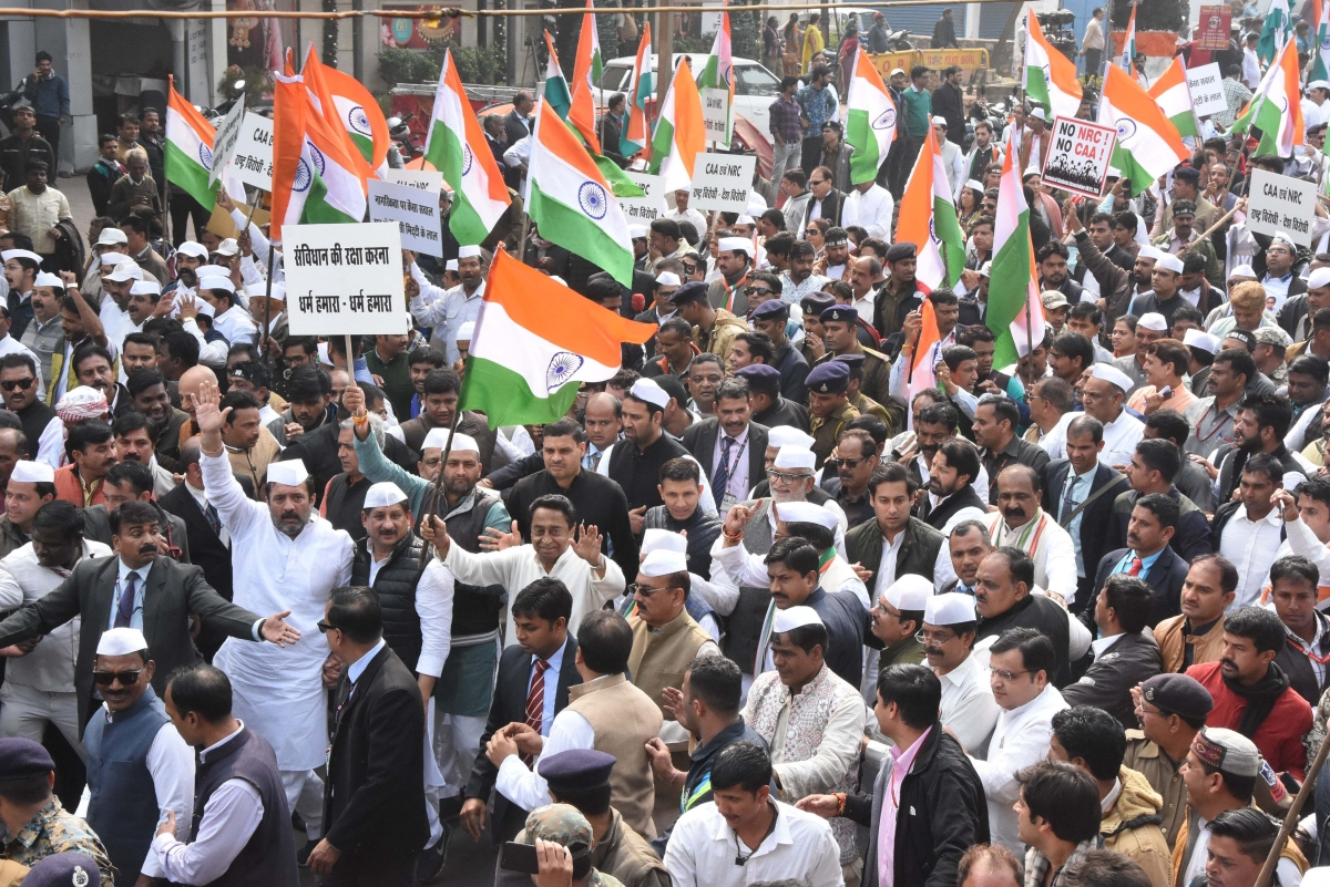 'Save the Constitution' Rally: CM Kamal Nath leads anti-CAA march in Bhopal, says Cong for NPR sans NRC